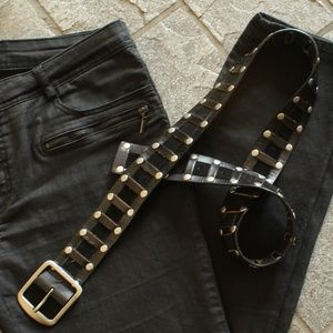 AS NEW black Calvin Klein Jeans leather belt